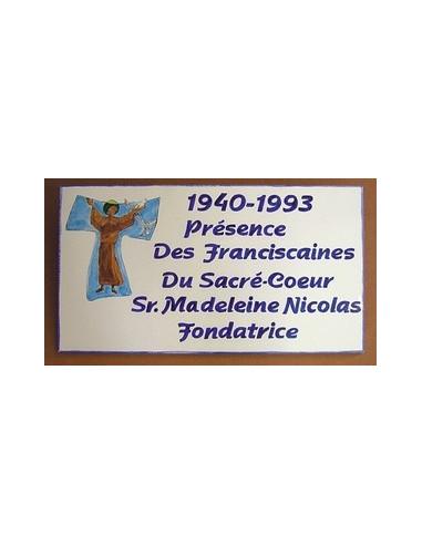 Fresque décorative rectangulaire décor Saint François stylé