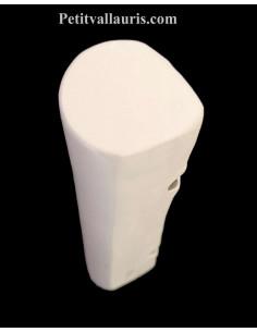 Bordure-listel en faience pour angle incurvé modèle demi-lune large émaillée couleur unie blanche