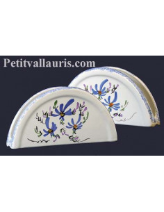 Porte serviette de table décor Fleuri bleu