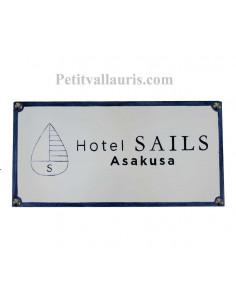 Grande plaque-fresque décorative en faience extérieure gravure et motif personnalisés