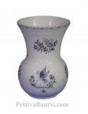 Vase en faience modèle Nadine Taille 2 reproduction décor tradition vieux moustiers bleu