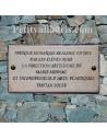 Plaque rectangulaire en céramique commémorative d'événement avec personnalisation