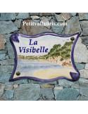 Grande Plaque modèle parchemin pour maison décor artisanal plage de la garonne dans le Var + personnalisation