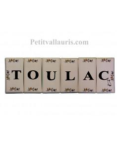 Plaque décorative murale en faïence au détail pour composer un nombre ou texte
