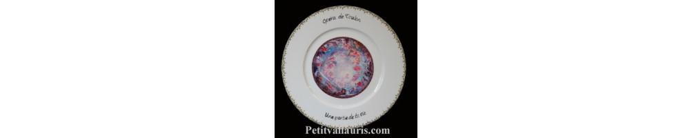 Assiettes avec photo en porcelaine personnalisée