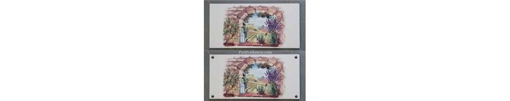 Fresque sur carreaux et grandes plaques