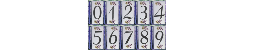 Chiffre ou lettre décor les lavande