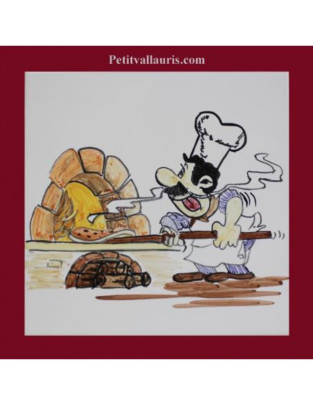 Italie et recette de cuisine décor sur carrelage