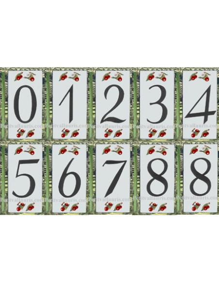 Numéro de Rue et Maison décor cerises