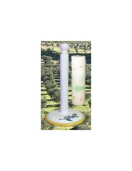 Décor de Provence sur faience blanche ou jaune + Dérouleurs de papiers essuie tout