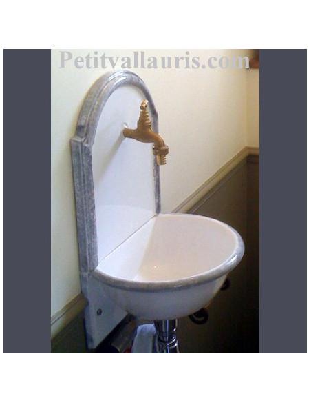 Fontaine murale en faience-céramique pour wc