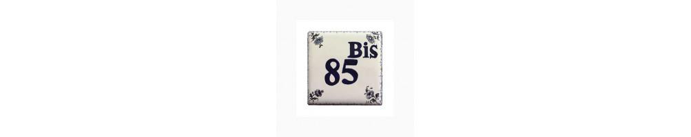 Plaques Numero de Rue et Maison taille 12 cm x 12 cm  en ceramique pour l'exterieur de votre habitation
