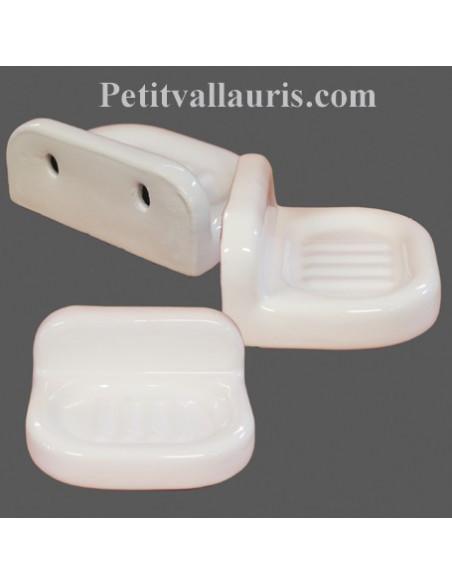 Porte savon blancs et de couleurs unie