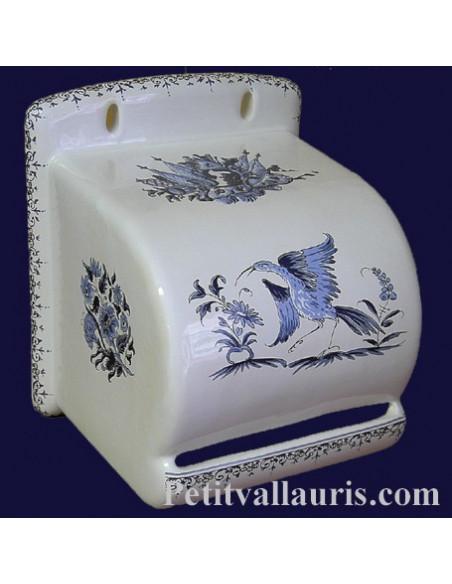 Reproduction Moustiers _derouleur-dévidoir-papier toilettes ceramique