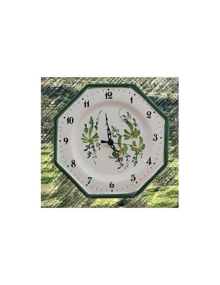 Horloges motifs fleurs et fruits
