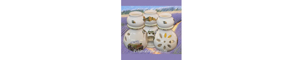 Brule et bruleur de parfum, porte encens et cendriers marocains en céramique fabriqués par le petit vallauris