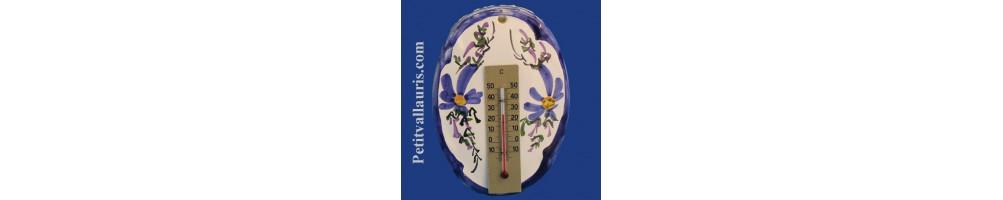Thermomètres muraux en céramique et faience réalisés artisanalement par le petit vallauris
