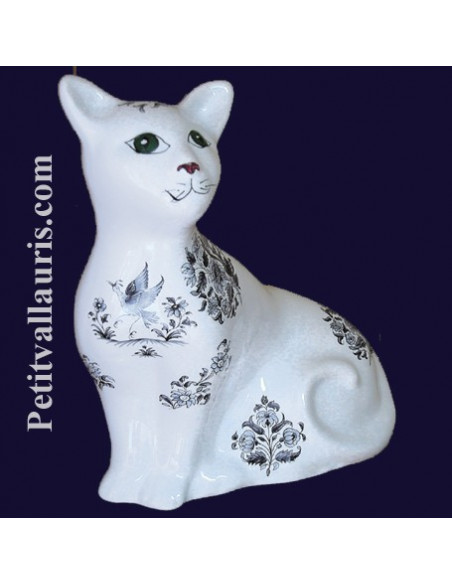 Chat -Chaton en faience