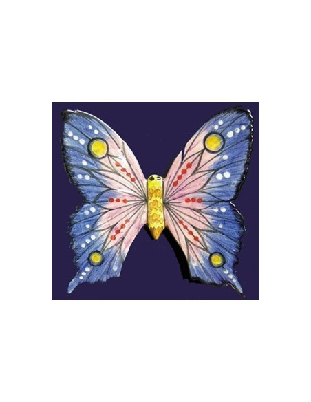 Papillon mural en faience