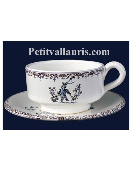 Tasses +sucriers + cafetieres + theieres + beurriers en faience