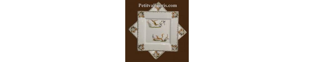 Service de table en faïence et céramique au décor moustiers ou provençal