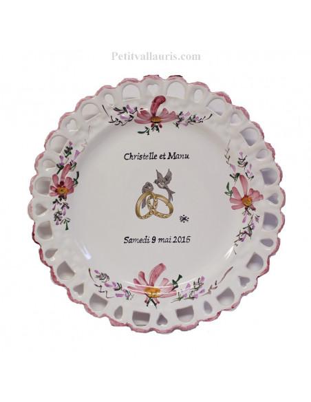 Modèle Tournesol assiette de mariage faience tournesol