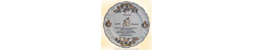 modèle Louis XV Assiette souvenir Mariage