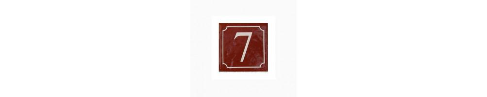 plaque pour numéro de maison couleur pourpre pour le nord de la france , la belgique et UK