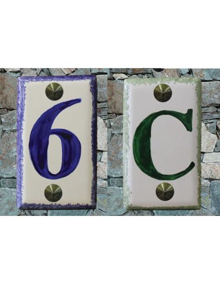 Numéros et lettres sans décor
