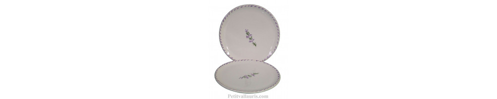 Collection Nana service de table en faience au motif mauve-parme