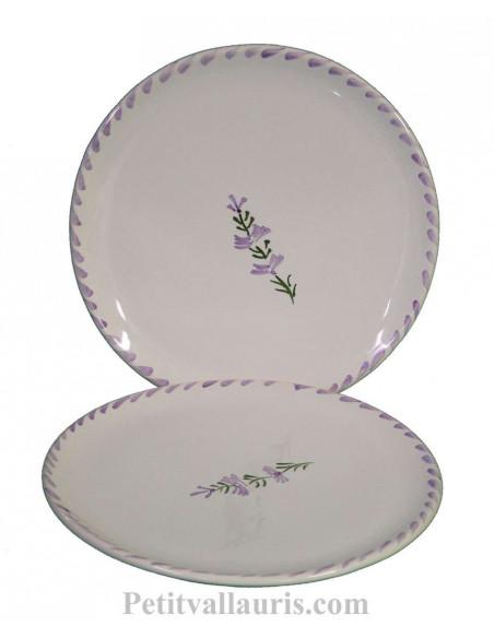 Collection Nana service de table en faience au motif mauve-parme