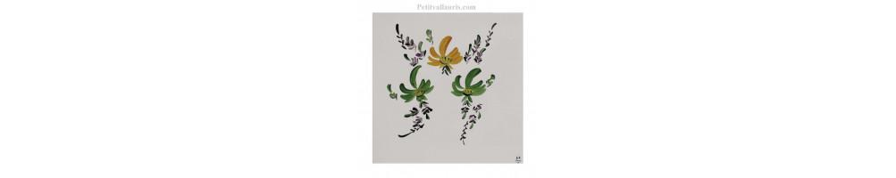 Carrelage décor fleurs de toutes les couleurs