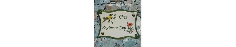 Motifs oiseaux Grande-plaque-parchemin-en-ceramique-emaillee